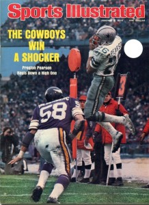 Cover of 1975 Sports Illustrated Magazine – Hail Mary Game